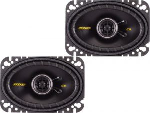 "Kicker 40CS464 4x6"" CS-Series Coaxial Speakers - Pair (Black)"