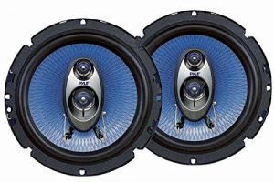 Pyle 6.5'' Three Way Sound Speaker System - Round Shaped Pro Full Range Triaxial Loud Audio 360 Watt Per Pair w/ 4 Ohm Impedance and 3/4'' Piezo Tweeter for Car Component Stereo PL63BL