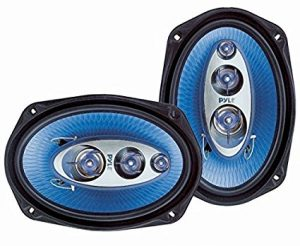 "6"" x 9"" Car Sound Speaker (Pair) - Upgraded Blue Poly Injection Cone 4-Way 400 Watts w/ Non-fatiguing Butyl Rubber Surround 50 - 20Khz Frequency Response 4 Ohm & 1.25"" ASV Voice Coil - Pyle PL6984BL"