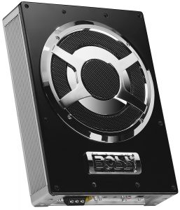 BOSS Audio BASS800 800 Watt Low Profile Amplified 8 Inch Subwoofer with Remote Subwoofer Control