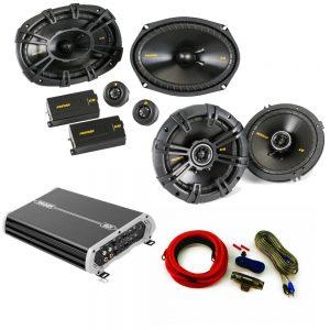 "Kicker Speaker Package 40CSS694 6x9 40CS654 6.5"" DXA 250 watt 4 channel amp wiring kit."