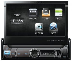 Power Acoustik PDR-780 Single Din Digital Media Receiver with Motorized Flip-Up 7-Inch LCD Touch Screen (Discontinued by Manufacturer)
