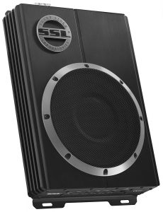 Sound Storm LOPRO8 600 Watt Low Profile Amplified 8 Inch Car Subwoofer with Remote Subwoofer Control