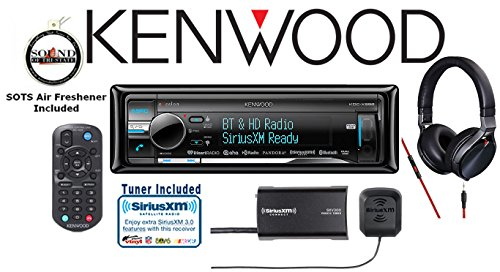 Kenwood KDC-X998 eXcelon CD Receiver with a SiriusXM Satellite Radio Tuner SXV300V1, Antenna and 900 Series Kenwood Headphones KH-KR900 with a Free SOTS Air Freshener